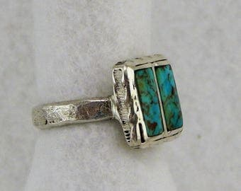 Mans silver and Turquoise ring
