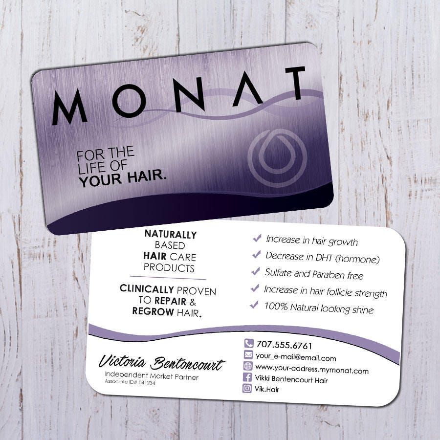 Monat business cards silver purple design with white back zoom magicingreecefo Images