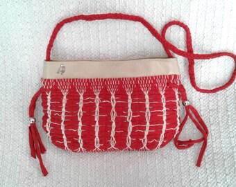 Red bag handmade 2