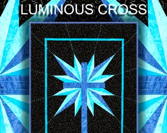 Luminous Cross Quilt Pattern Digital File Download