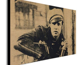 Marlon Brando - Andy Warhol Canvas Wall Art Print - Various Sizes