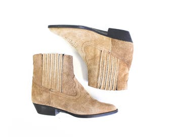 Tan Ankle boots/ Women's size 5 1/2/ Made in Mexico