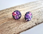 Beautiful floral fabric stud earrings for elegant evenings, elegant stud earrings for fun summer days