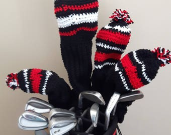 Customisable Crocheted Golf Club Covers