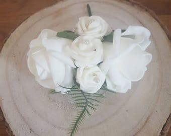 Foam rose pin corsage