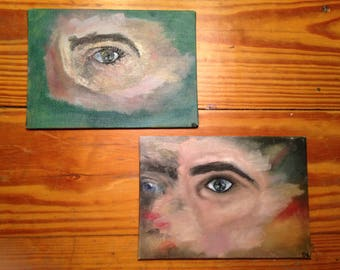 abstract face oil painting