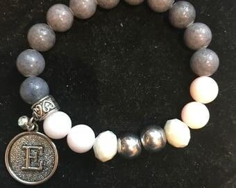 Pick your Initial charm bracelet