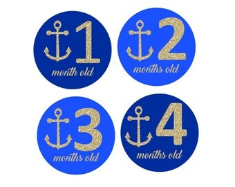Blue Anchor Monthly Stickers