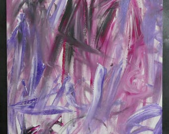 Original Abstract Painting Purple Acrylic