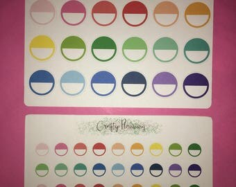 Circle markers reminders half circles ombre circles planner stickers