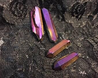 Violet Flame Aura Quartz