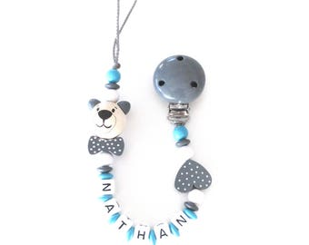 Pacifier pattern NATHAN wooden beads