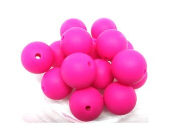 10 15mm - Fuchsia Silicone beads