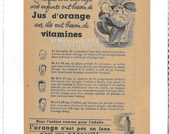 advertising oranges from North Africa from the 50s