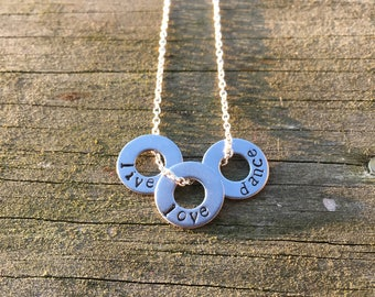 Live Love Dance Hand-Stamped Necklace