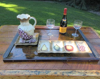 Serving Tray / Platter  -  Reclaimed Wood & Hardware