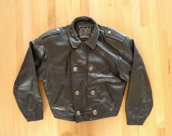 Vintage ART ECHO By MIRAGE Black Leather Motorcycle Jacket Like New!
