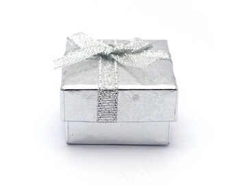 Silver - square jewelry box