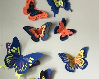 Wall Decor, 3D Paper Butterflies