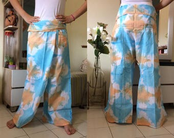 Discount 20%--Long Soft Cotton Pants, Thai fisherman pants with 1 pocket, free size (see detail).P13