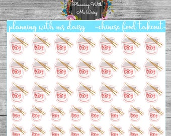 Chinese Food Takeout Planner Stickers