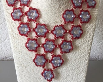 Jewelry set: Necklace, bracelet, watch and 0hrringe