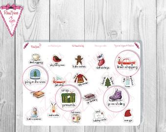 Christmas Bucket List Stickers