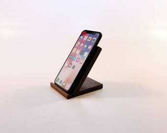 Iphone X,iphone 8 Wood wireless charging pad. Wood wireless stand. Walnut wireless charging stand. Wood Samsung Galaxy S8 wireless charger.