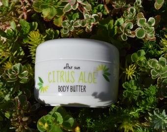Organic 'after sun' Citrus Aloe Body Butter - 2 oz