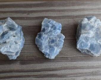 Blue Calcite - Raw Calcite - Healing Crystal - Metaphysical - Chakra - Calcite Cluster - Ahimsa