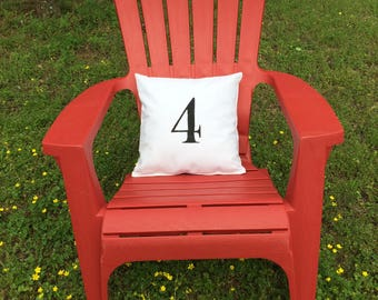 Decorative Hand-painted Number Pillow