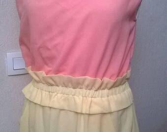 Dress two-tone chiffon and lace