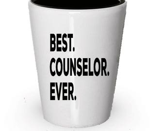 Counselor Shot Glass, Best Counselor Ever, Counselor gift, Gift for Counselor , Birthday Gift, Christmas Present