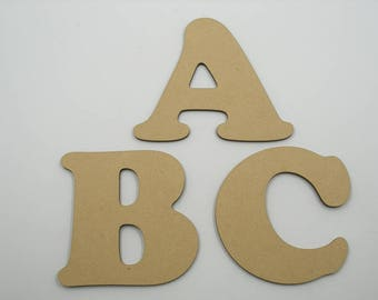 5cm MDF Wood Wooden Letters 3mm Thick COO