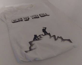 King of the hill minecraft t-shirt.