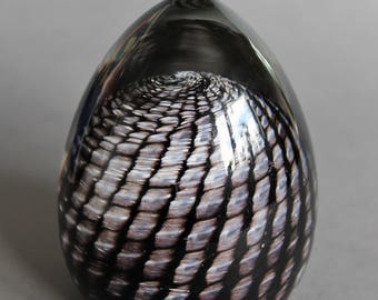 Vintage Glass Crystal Ball Swedish Design Gränna Glashytta Sweden 1970's