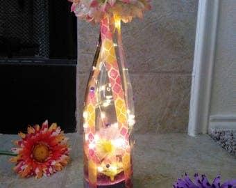Pretty Flower Dome LED Light Bottle