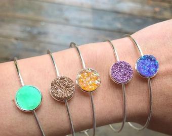 Bangle Druzy Bracelets