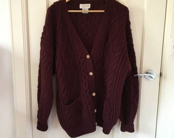 100% pure wool vintage cardigan