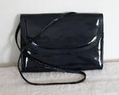 Vintage Japelle By Shilton International Navyblue Clutch Bag 1970s ladies shoulder bag