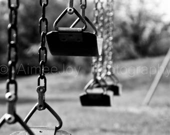 Swings 1. Photography. Black and white