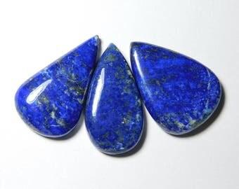 3 pce Lot Natural Lapis Lazuli Gemstone Lapis Lazuli Loose stone Blue lapis lazuli cabochon Amazing Qualiyt Gemstone 136  cts