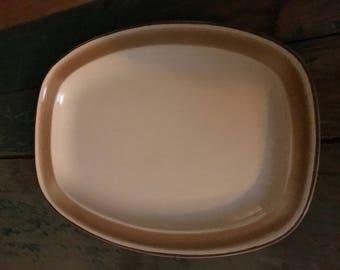 Hearthside Water Colors  Serving Platter  Stoneware Vintage 1970's