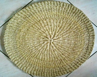 Handmade Round Abaca Placemat