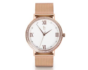 Ladies watch Wrist watch Womens watch Watch for her Watch bracelet Unique watches minimalist gift for her cheap watch Swarovski crystal