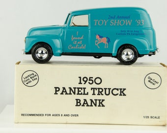 Ertl 1950 Panel Truck Diecast Bank 1/25 Scale Carlisle 1993 PA Toy Show