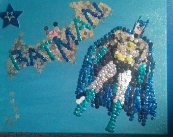 pretty picture batman 24/30 cm blue glitter