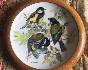 WWF Songbirds of Europe  by Ursula Band -  Great Tit display plate 1986