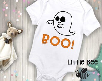 Boo, Halloween, First halloween, Fall, Ghost, Baby Onesie, New Baby, Baby Shower Gift, New Baby, Onesie, Halloween costume,