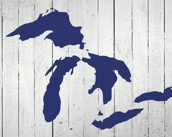 Great Lakes Michigan Decal